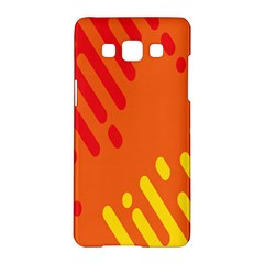 Color Minimalism Red Yellow Samsung Galaxy A5 Hardshell Case  by AnjaniArt