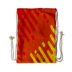Color Minimalism Red Yellow Drawstring Bag (small)