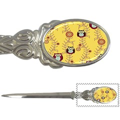 Cheery Owls Yellow Letter Openers by AnjaniArt