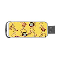 Cheery Owls Yellow Portable Usb Flash (one Side) by AnjaniArt