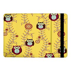 Cheery Owls Yellow Samsung Galaxy Tab Pro 10 1  Flip Case by AnjaniArt