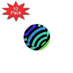 Colorful Roulette Ball 1  Mini Magnet (10 Pack)  by AnjaniArt