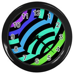 Colorful Roulette Ball Wall Clocks (black) by AnjaniArt
