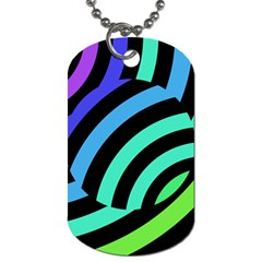 Colorful Roulette Ball Dog Tag (two Sides) by AnjaniArt