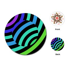Colorful Roulette Ball Playing Cards (round)  by AnjaniArt