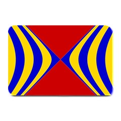 Concentric Hyperbolic Red Yellow Blue Plate Mats