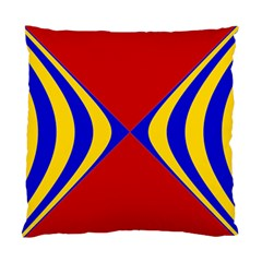 Concentric Hyperbolic Red Yellow Blue Standard Cushion Case (two Sides) by AnjaniArt