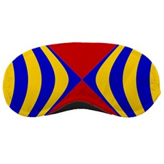 Concentric Hyperbolic Red Yellow Blue Sleeping Masks by AnjaniArt