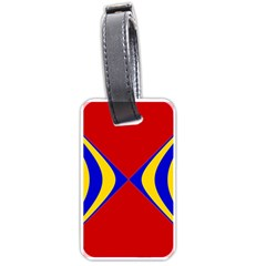 Concentric Hyperbolic Red Yellow Blue Luggage Tags (two Sides) by AnjaniArt