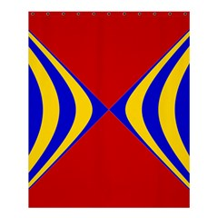 Concentric Hyperbolic Red Yellow Blue Shower Curtain 60  X 72  (medium)  by AnjaniArt