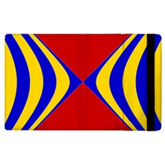 Concentric Hyperbolic Red Yellow Blue Apple Ipad 2 Flip Case by AnjaniArt