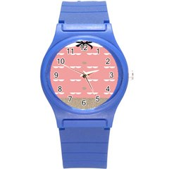 Cool Rose Round Plastic Sport Watch (s) by AnjaniArt