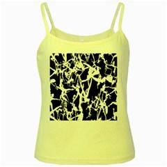 Dancing Yoga Yellow Spaghetti Tank by AnjaniArt