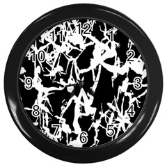 Dancing Yoga Wall Clocks (black) by AnjaniArt