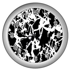 Dancing Yoga Wall Clocks (silver)  by AnjaniArt