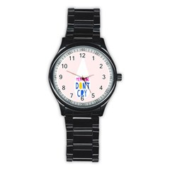 Dont Crt Fun Mermaids Pink Stainless Steel Round Watch by AnjaniArt