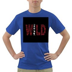 Crazy Wild Style Background Font Words Dark T Shirt by AnjaniArt