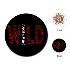 Crazy Wild Style Background Font Words Playing Cards (round)  by AnjaniArt