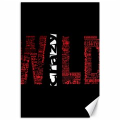 Crazy Wild Style Background Font Words Canvas 12  X 18   by AnjaniArt