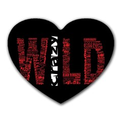 Crazy Wild Style Background Font Words Heart Mousepads