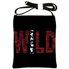 Crazy Wild Style Background Font Words Shoulder Sling Bags by AnjaniArt