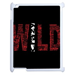 Crazy Wild Style Background Font Words Apple Ipad 2 Case (white) by AnjaniArt