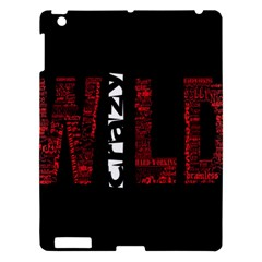 Crazy Wild Style Background Font Words Apple Ipad 3/4 Hardshell Case by AnjaniArt