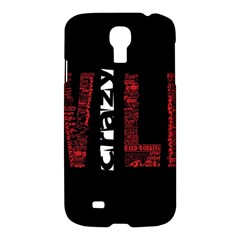 Crazy Wild Style Background Font Words Samsung Galaxy S4 I9500/i9505 Hardshell Case by AnjaniArt