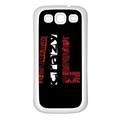 Crazy Wild Style Background Font Words Samsung Galaxy S3 Back Case (white) by AnjaniArt