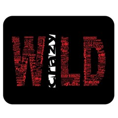 Crazy Wild Style Background Font Words Double Sided Flano Blanket (medium)  by AnjaniArt