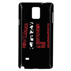 Crazy Wild Style Background Font Words Samsung Galaxy Note 4 Case (black) by AnjaniArt