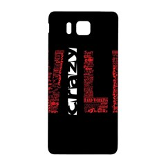 Crazy Wild Style Background Font Words Samsung Galaxy Alpha Hardshell Back Case by AnjaniArt