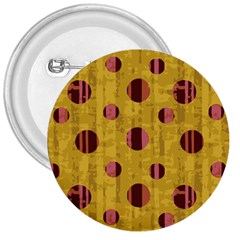 Dot Mustard 3  Buttons by AnjaniArt