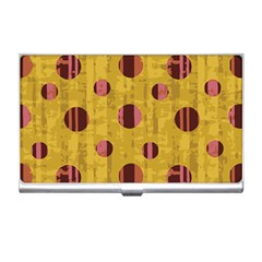 Dot Mustard Business Card Holders by AnjaniArt
