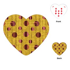 Dot Mustard Playing Cards (heart)  by AnjaniArt