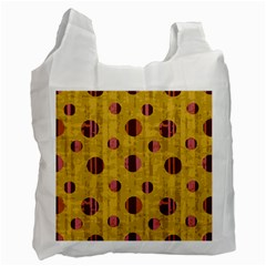 Dot Mustard Recycle Bag (two Side)