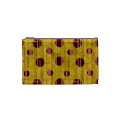Dot Mustard Cosmetic Bag (small)  by AnjaniArt