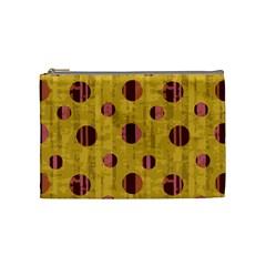 Dot Mustard Cosmetic Bag (medium)  by AnjaniArt