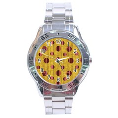 Dot Mustard Stainless Steel Analogue Watch by AnjaniArt