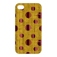 Dot Mustard Apple Iphone 4/4s Premium Hardshell Case by AnjaniArt