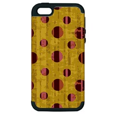 Dot Mustard Apple Iphone 5 Hardshell Case (pc+silicone) by AnjaniArt