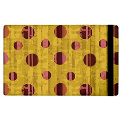 Dot Mustard Apple Ipad 3/4 Flip Case by AnjaniArt