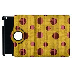 Dot Mustard Apple Ipad 3/4 Flip 360 Case by AnjaniArt