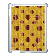 Dot Mustard Apple Ipad 3/4 Case (white) by AnjaniArt