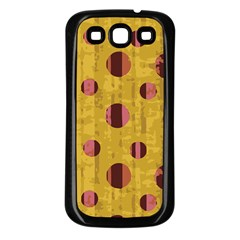 Dot Mustard Samsung Galaxy S3 Back Case (black) by AnjaniArt