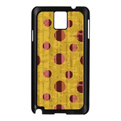 Dot Mustard Samsung Galaxy Note 3 N9005 Case (black) by AnjaniArt