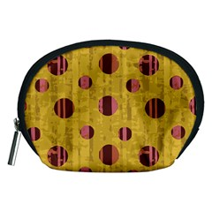 Dot Mustard Accessory Pouches (medium)  by AnjaniArt