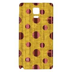 Dot Mustard Galaxy Note 4 Back Case by AnjaniArt