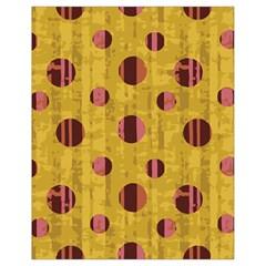Dot Mustard Drawstring Bag (small) by AnjaniArt