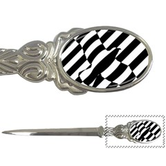Flaying Bird Black White Letter Openers by AnjaniArt